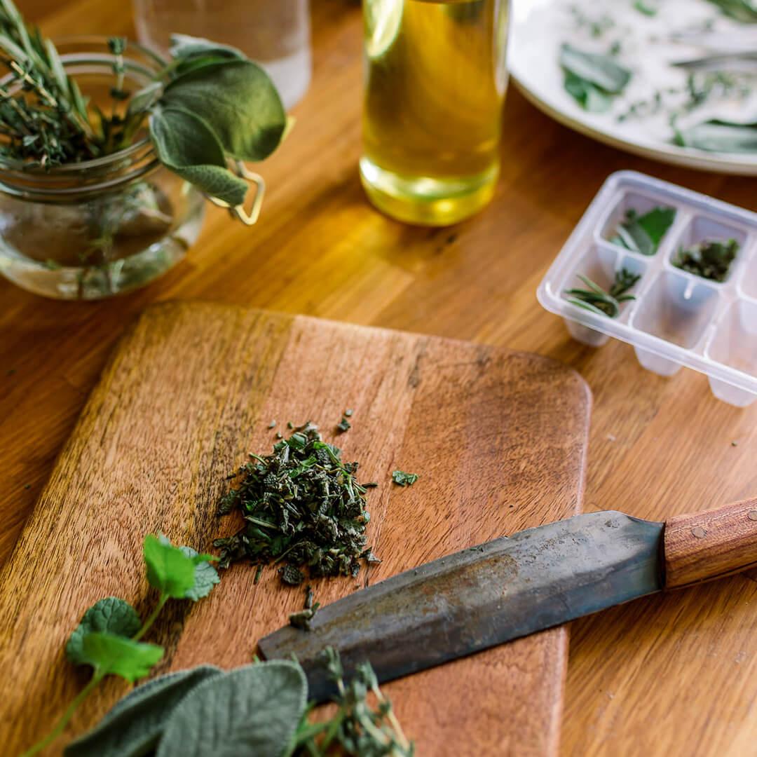Ricola Kräuter einfrieren Rezept - Step  1