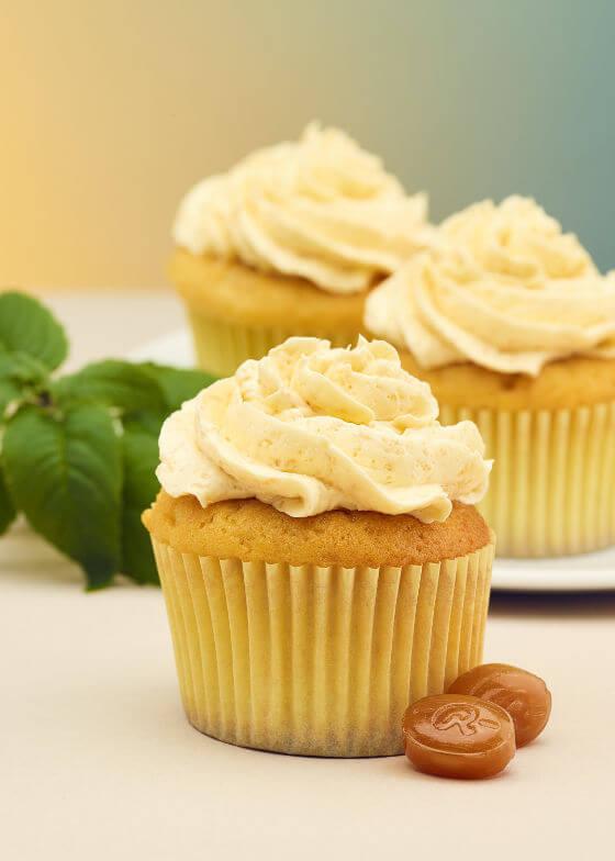 Kräuter-Caramel Cupcakes